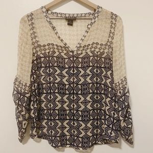 Lucky Brand sheer peasant top - S
